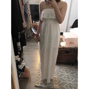 H&M Lace White Maxi Dress NWT size 2